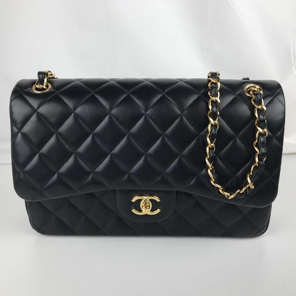 d78bcc15100c CHANEL Bags | Large Double Flap Classic Lambskin Handbag | Poshmark
